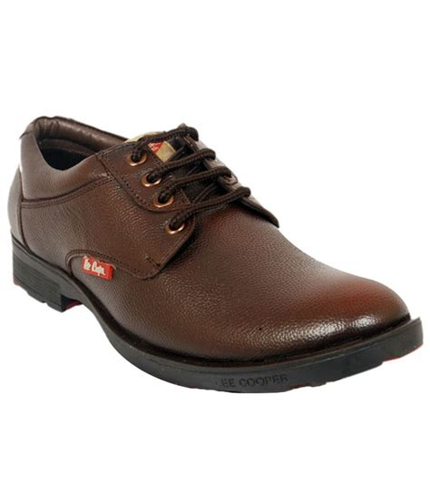 cooper brown derby genuine leather formal shoes