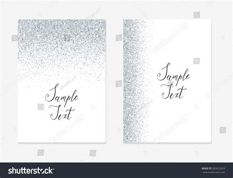 Silver Glitter Background Silver Sparkle Border Stock Vector 583022653 Shutterstock Sparkle Website Templates