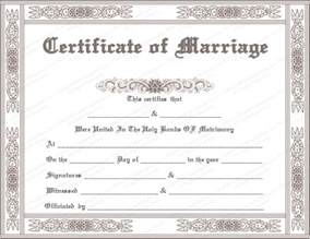 Marriage Certificate Templates Free Classic Marriage Certificate Template