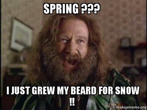 Robin Williams Jumanji Meme - spring i just grew my beard for snow robin
