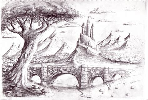 pencil sketch designs photos pencil sketches of sceneries scenery by cyphercodicer2 on deviantart