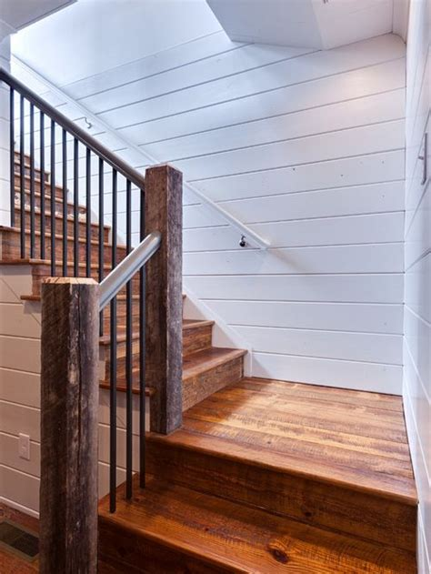 shiplap on stairs rustic wooden stairs shiplap walls r a i l i n g s s
