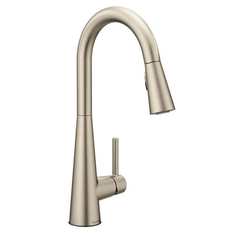 moen solidad single handle pull down sprayer kitchen moen sleek single handle pull down sprayer kitchen faucet