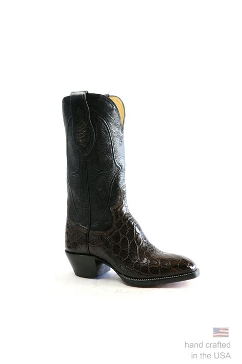 Handmade Alligator Boots - custom alligator cowboy boots handmade in the u s a