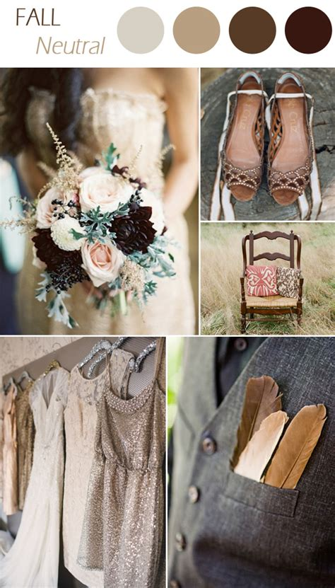 colour schemes for weddings 2015 6 practical wedding color combos for fall 2015