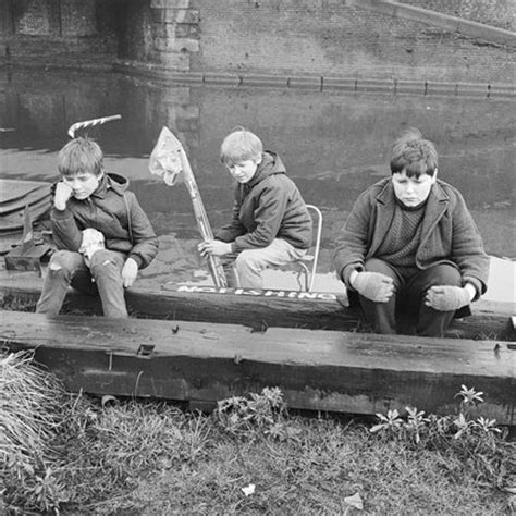 three boys at the regents canal; 1967 by henry grant at