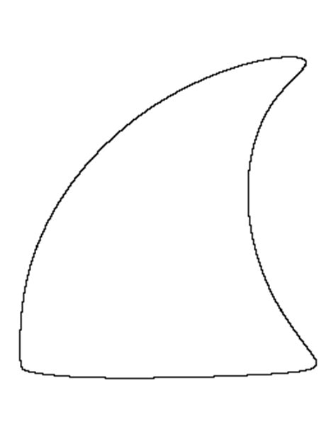 shark fin template free fish patterns for crafts stencils and more page 2