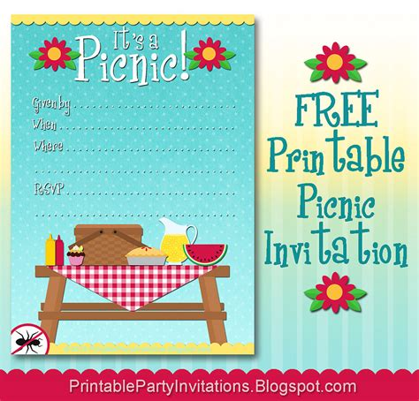 picnic invitation card template company picnic invitation template free