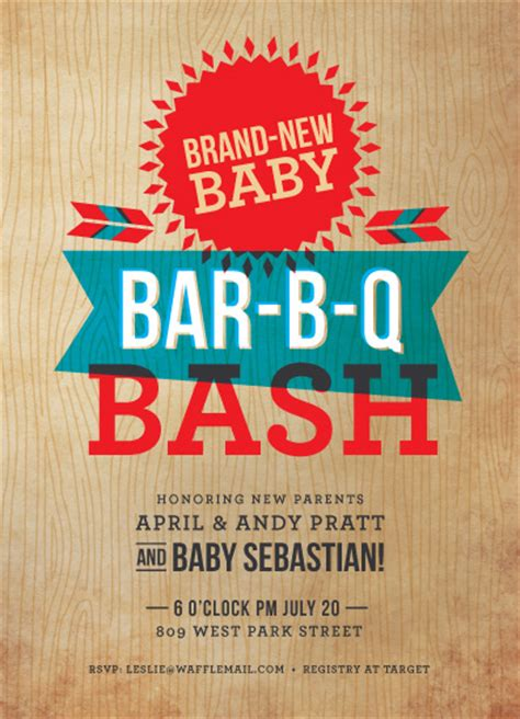 backyard baby shower invitations baby shower invitations backyard barbecue at minted com