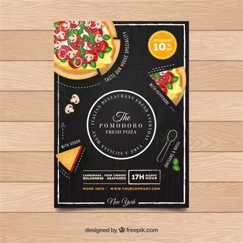flyer restaurante pizza descargar vectores gratis