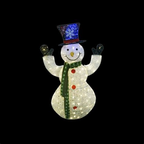 100 Snowman Decorations For The Home 77 Diy | alpine 50 in white thread snowman decor with 100 led