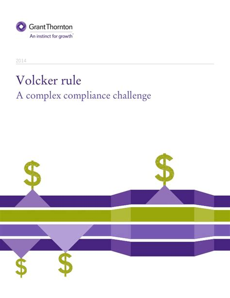 Mba Challenge 2014 by Volcker Rule Complex Compliance Challenge 2014