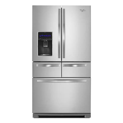 Single Drawer Refrigerator by Shop Whirlpool 25 8 Cu Ft 5 Door Door Refrigerator