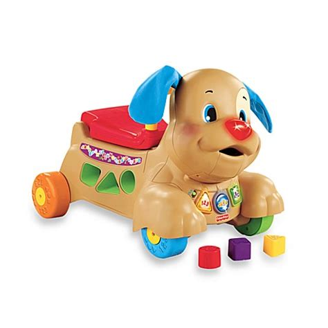 fisher price puppy walker buy fisher price 174 laugh learn stride to ride 174 puppy from bed bath beyond