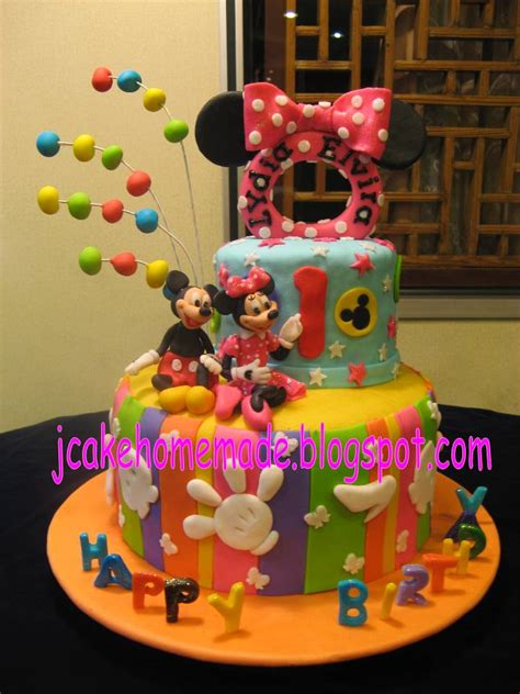 jcakehomemade mickey mouse  minnie mouse birthday cake