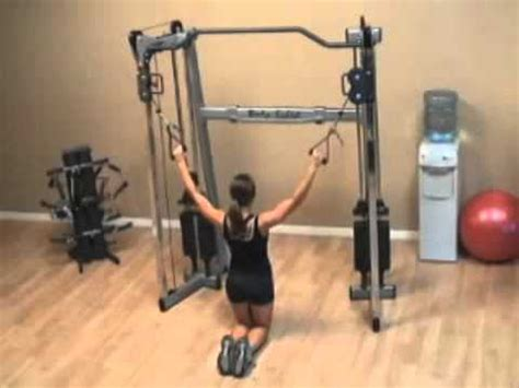 gdcc200 cable crossover exercises kneeling lat pull down