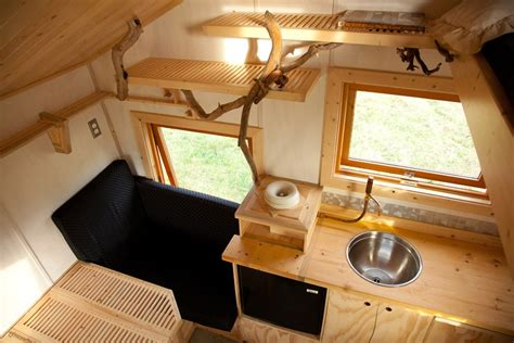 trailer home interior design gnomadik micro cottage packs a lot into a closet sized