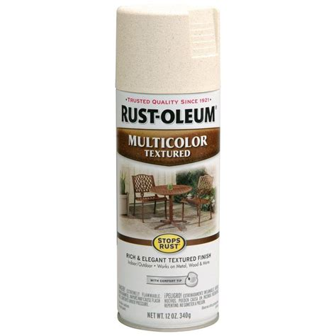 rust oleum stops rust 12 oz protective enamel multi colored textured caribbean sand spray paint