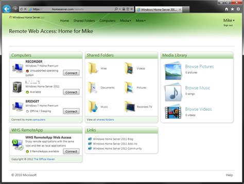 add in whs remoteapp 2011