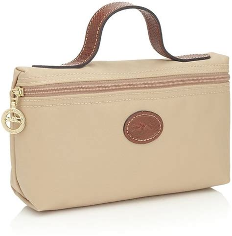 longch le pliage cosmetic bag in pink gold lyst