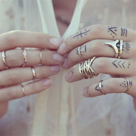 finger tattoos tribal i will do this threads skin