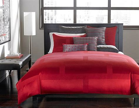 the hotel collection bedding polished passion 19 dashing bedrooms in red and gray