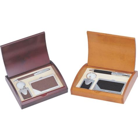 card gift sets personalized black or brown leather pen business card