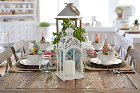 farmhouse kitchen table centerpiece cottage farmhouse table decorating ideas fox hollow cottage