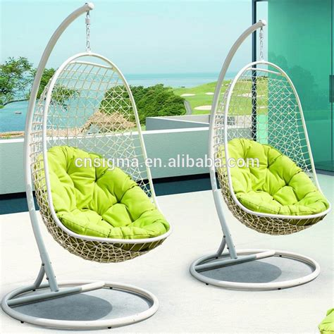 patio swing chair with stand outdoor indoor swing hanging chair with stand patio swing