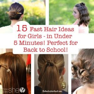 easy hairstyles for school in 5 minutes dailymotion 16 simple and hairstyles to wear to school how does she