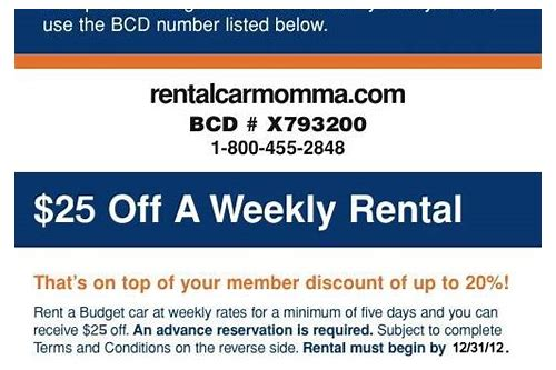 rental car coupons december 2018