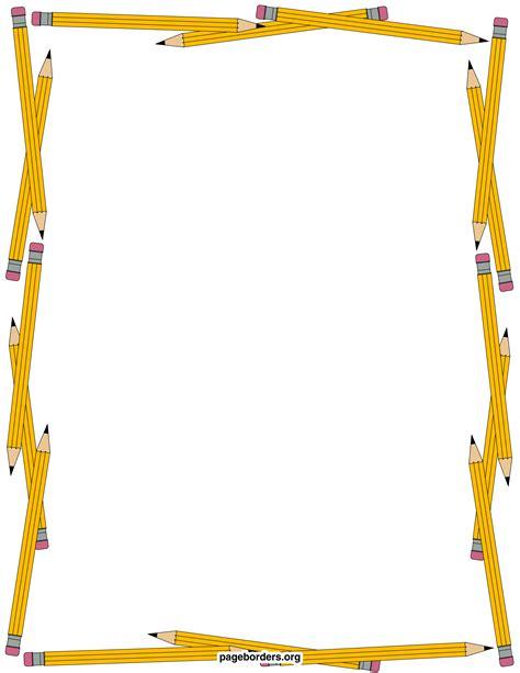 border clipart pencil clipart boarder pencil and in color pencil