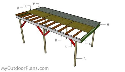 carport plans free free garden plans how to build flat roof carport plans myoutdoorplans free