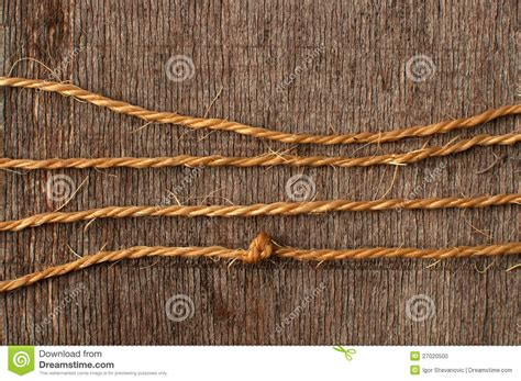 Wood String - rope string and weathered wood stock photo image 27020500