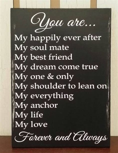Wedding Anniversary Quotes For Boyfriend by Anniversary Gift For Boyfriend Or Rustic Sign