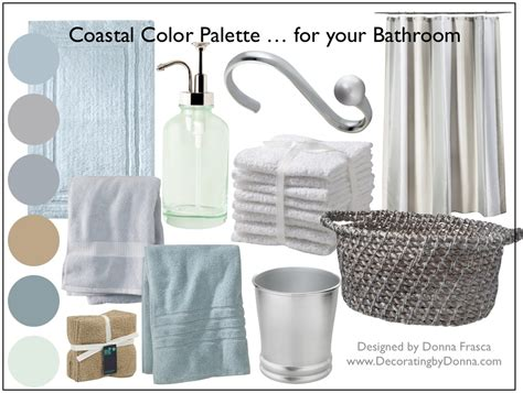 spa bathroom color schemes a coastal color palette for your bathroom decorating by