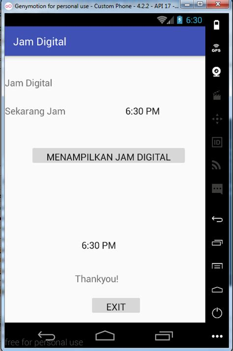 membuat jam digital php tutorial membuat jam digital pada android studio