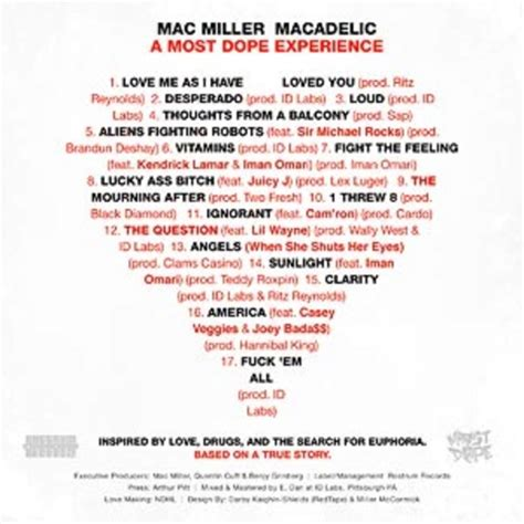 Thoughts From A Balcony Mac Miller by Mixtape Mac Miller Macadelic Hiphop N More
