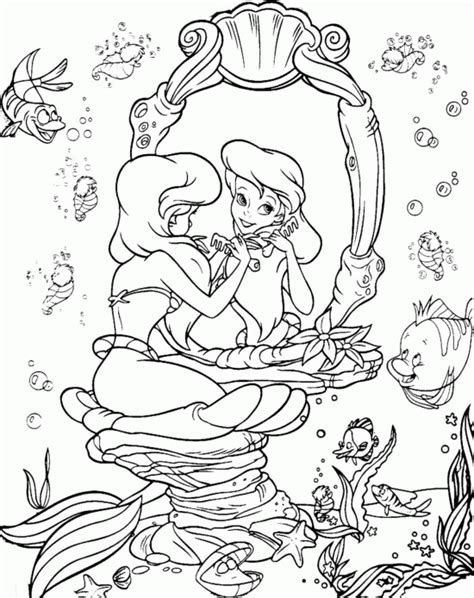 Little Mermaid Coloring Pages Coloringpagesabc Com Mermaid Coloring Pages Disney