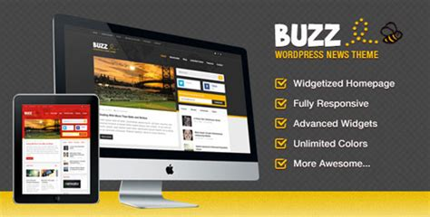 themeforest pages buzz a fun news themeforest theme for wordpress
