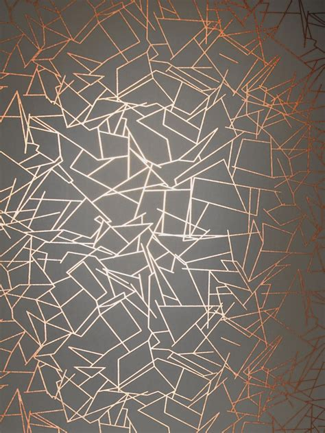 wallpaper grey and copper angles wallpaper copper rose lead grey