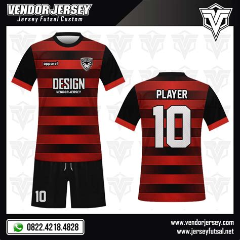 Desain Baju Futsal Warna Merah | desain baju futsal horishine vendor jersey futsal