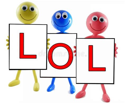 abbreviation for background lol abbreviation on white background stock photo image