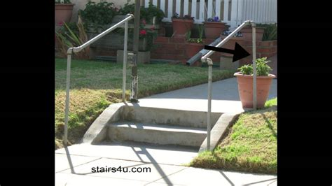 exterior banister the cheapest exterior stair handrail money saving ideas youtube