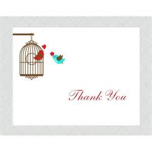 lovebird thank you cards style 382 whimsicalprints