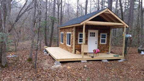 Building Cabin by How To Build Your Own Tiny Cabin