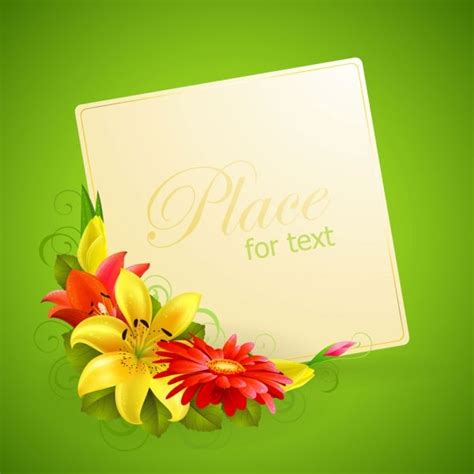 flower design greeting cards flower greeting cards 02 vector free vector in adobe