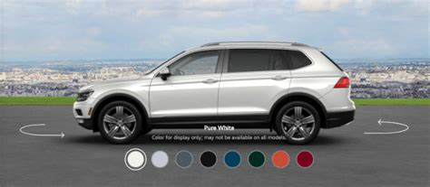 volkswagen tiguan white 2018 2018 volkswagen tiguan color options
