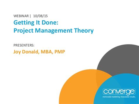 Should I Get An Mba For Project Management by Getting It Done Project Management Theory