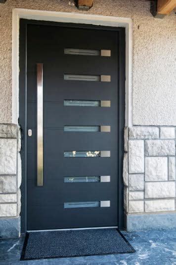 modern contemporary single fiberglass door  horizontal